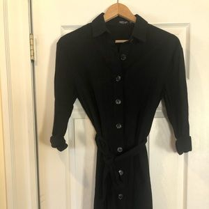 Nasty Gal Black Button Down Belted Dress Size 4